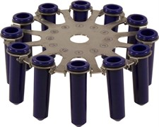 Ротор для центрифуги СМ-6М/СМ-6МТ на 12 пробирок до 15 мл.