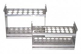 Штатив для бутирометров LA-209, 11 гнезд, глубина погружения 200 мм, для криостатов и термостатов/термобань с ваннами 11 л