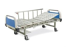 Кровать медицинская КМ-1 (2 колеса с тормозом, 2 колеса без тормозов)