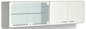 Шкаф медицинский навесной для хранения стоматологических материалов сo стеклянными дверями L 031