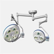 Напольный операционный светильник ALFA-763. 6+3-рефлекторный потолочный (80000-120000Лк+60000Лк)