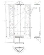 Барометрический шкафчик с освещением и крепежом