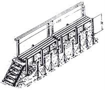 Реечный помост для установки вытяжных почвенно-глубинных термометров