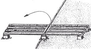 Реечный настил для установки почвенно и коленчатых термометров с уст. анкерами (складной из 2 частей)
