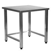 С 6/6 Стол разделочно-производственный без полки (сварная конструкция) 600х600х850 без борта
