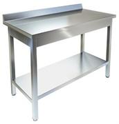Стол производственный пристенный СПП-933/407 нерж