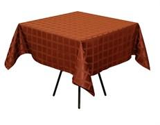 Скатерть 145х195 см «Журавинка» коричневая (квадрат)