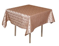 Скатерть 145х195 см «Мати» коричневая с золотом (вензель)