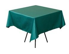 Скатерть 145х145 см «Мираж» темно-зеленая
