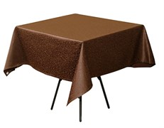 Скатерть 145х145 см «Ричард ажур» коричневая
