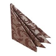 Салфетка 45х45 см «Мати» коричневая с золотом (вензель)