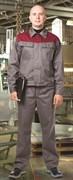 Костюм АККОРД серо-бордовый, куртка с брюками