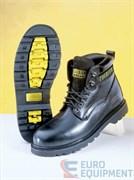 Ботинки кожаные КУРЬЕР черные утеплённые