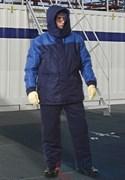 Куртка РУССКАЯ АЛЯСКА New утепленная мужская синяя с голубым