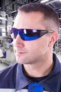 Очки защитные открытые 3M™ SecureFit 408, сине-зеркальная линза, AS/AF
