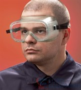 Очки закрытые Эл-Джи-10, прямая вентиляция, прозрачные поликарбонатные линзы повышенной ударопрочности