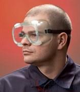 Очки закрытые Эл-Джи-20, непрямая вентиляция, прозрачные поликарбонатные линзы повышенной ударопрочности с покрытием от царапин и запотевания