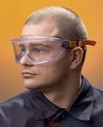 Очки закрытые панорамные Ви-Макс, непрямая вентиляция, прозрачные линзы из поликарбоната повышенной ударопрочности с покрытием от царапин и запотевания