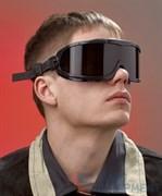 Очки закрытые панорамные Ви-Макс, линзы из поликарбоната с затемнением 5 DIN (Г2), с покрытием от царапин и запотевания
