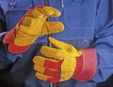 Перчатки спилковые усиленные комбинированные РУССКИЕ ЛЬВЫ