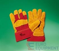 Перчатки РУССКИЕ ЛЬВЫ спилковые комбинированные на утепляющей подкладке