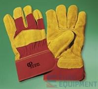 Перчатки спилковые комбинированные РУССКИЕ ЛЬВЫ, утепленные, Тинсулейт