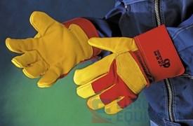Перчатки кожаные комбинированные РУССКИЕ ЛЬВЫ