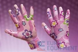 Перчатки РАДУГА с прозрачным нитриловым покрытием