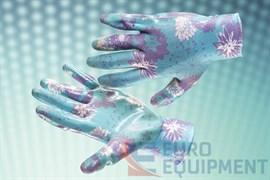 Перчатки ЛАВАНДА с прозрачным нитриловым покрытием