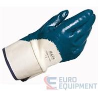 Перчатки х/б ТИТАН с нитриловым покрытием, крага, покрытие ладони