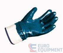 Перчатки х/б ТИТАН с нитриловым покрытием, крага, покрытые полностью