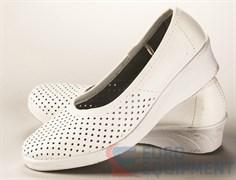 Туфли женские кожаные с задником