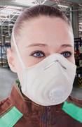 Полумаска фильтрующая АЭРУМ с клапаном выдоха и дополнительной защитой от кислых газов, FFP2