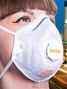 Полумаска фильтрующая UVEX СИЛВ-ЭЙР С 2220, FFP2, с клапаном выдоха и угольным фильтром (8732.220)