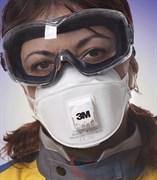 Полумаска фильтрующая 3М Aura™ 9322+ для защиты от пылей и туманов (с клапаном выдоха)