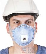 Полумаска фильтрующая 3М 9926Р противоаэрозольная со снижением воздействия кислых газов (с клапаном выдоха)