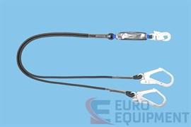 Строп двуплечевой негорючий LB201FLR с амортизатором ABM и карабинами 002 022 серии ВЕРШИНА