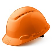Каска защитная модель H-700C-OR, c вентиляцией. Оранжевая