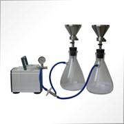 ПВФ-35(47)/5 НБ с узлом ресиверов на 5 фильтровальных ячеек 5 воронок из н/ст (V 300 мл) в 5 ресиверах (V 1000 мл), на подставке, вакуумный насос, фильтр-влагоотделитель, трубопроводы