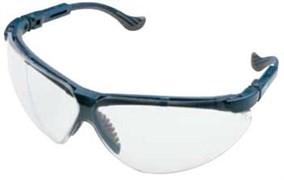 Открытые защитные очки Экс-Си (XC) синяя оправа, сменные линзы из поликарбоната прозрачные с двусторонним покрытием от царапин