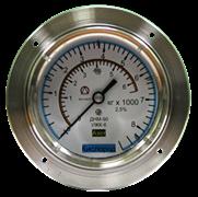 Мановакуумметр / манометр гидрозаполненный (резьба М10/1) не поверенный (не внесён в Реестр СИ)