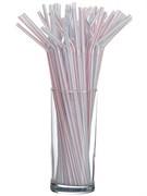 Трубочки со сгибом полосатые 240 мм 1000 шт