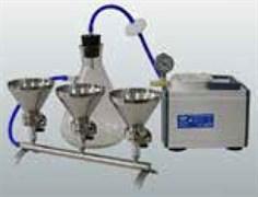ПВФ-35(47)/2 НБ Коллектор с 2 воронками (V 300 мл) вакуумный насос, ресивер (V 2500 мл), фильтр-влагоотделитель, трубопроводы