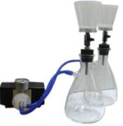 ПВФ-47/2 НБ (С) 2 воронки из стекла (V 300 мл) в 2 ресиверах (V 1000 мл) на подставке, вакуумный насос, фильтр-влагоотделитель, трубопроводы