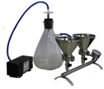 ПВФ-47/3 НБ (ВВ) Коллектор с 3 воронками (V 500 мл, с уплотнением), вакуумный насос, ресивер (V 2500 мл), фильтр-влагоотделитель, трубопроводы