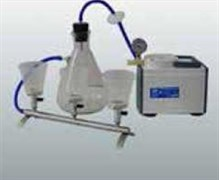 ПВФ-47/3 НБ (ППВВ) Коллектор с 3 воронками  из ПП (V 250 мл), вакуумный насос, ресивер (V 2500 мл), фильтр-влагоотделитель, трубопроводы, 1 воронка ЗИП