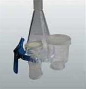 Ячейка фильтровальная с 1-ой воронкой из стекла V 250 мл с колбой Бунзена V 1000 мл под фильтр ? 47/50 мм
