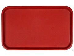 Поднос столовый из полипропилена 530x330 мм красный