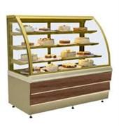 Прилавок холодильный кондитерский CARINA 02 1,0 орех тоскана, золото