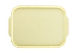 Поднос столовый 450х355 мм с ручками светло-желтый